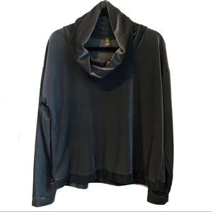 Xersion Athletic Cowl Neck Sweater Top Large